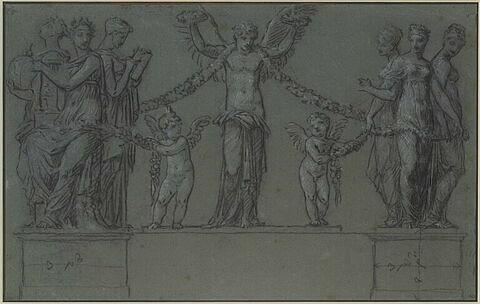 L'Hymen, l'Amour et le Génie enchaînent les Grâces et les Muses