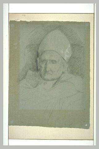 La tête de Monseigneur Dupanloup pour le monument d'Orléans