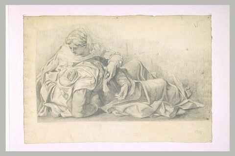 Sainte Madeleine soutenant la Vierge évanouie