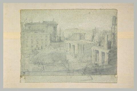 Ville d'Italie avec monuments en ruines