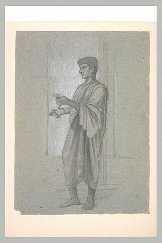 Etude d'après l'Antique, d'un jeune romain tenant un rameau