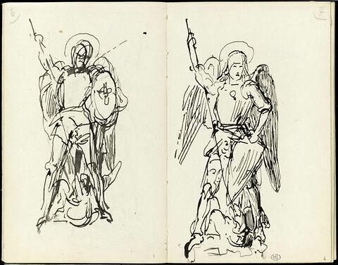 Etude pour un groupe sculpté : saint Georges combattant le dragon