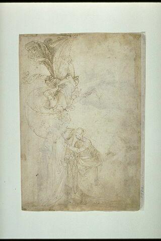 La Visitation et un ange jouant de la trompette