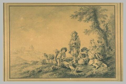 Groupe de bergers