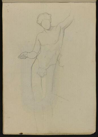 Statue d'éphèbe, et profil