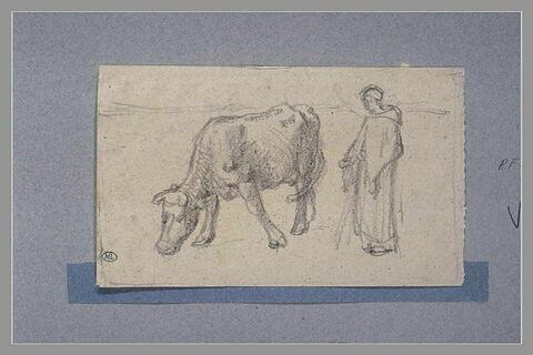 Etude pour la 'Paysanne gardant sa vache' de 1859