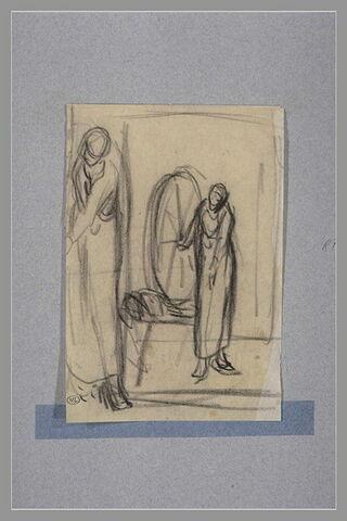 Deux études pour 'La fileuse' du Musée de Boston