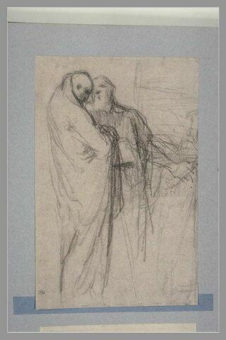 Deux figures d'hommes drapés à l'antique