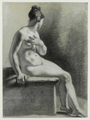 Etude de femme assise à droite