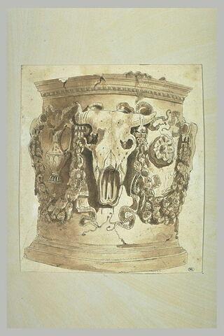 Etude d'un autel antique