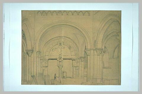 Portail intérieur du narthex de l'église de la Madeleine à Vézelay