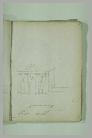 Etude d'architecture : élévation et plan