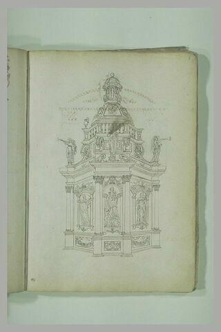 Etude d'architecture : monument polygonal avec dôme
