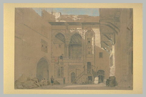 Cour intérieure d'une maison au Caire
