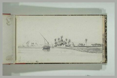 Paysage des abords du Nil en Haute Egypte