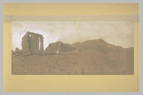 Vue du Memnonium de Thèbes