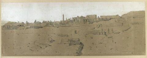 Vue du temple de Karnak