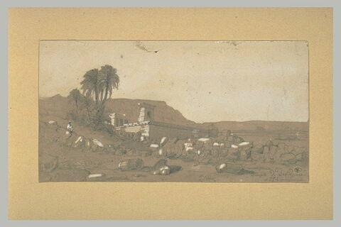 Vue du temple de Dendera