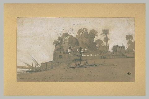 Paysage de Haute-Egypte, à Minièh