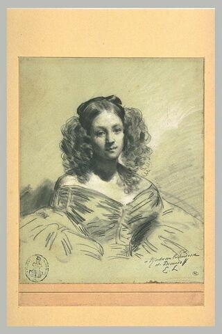 Portrait présumé, en buste, de la Princesse Mathilde jeune