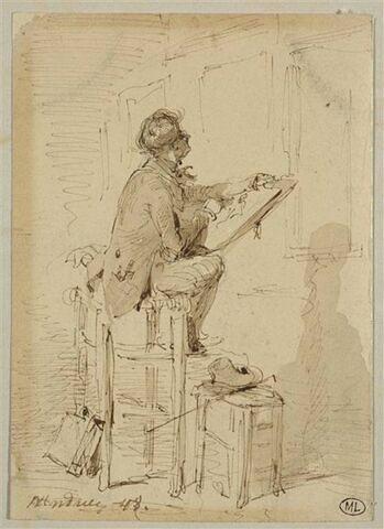 Un copiste au Louvre