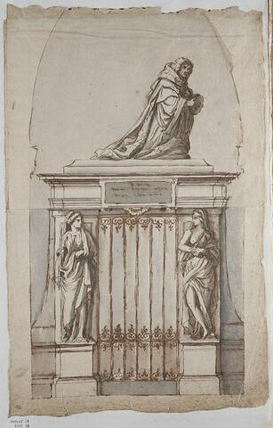 Projet de monument funéraire : orant
