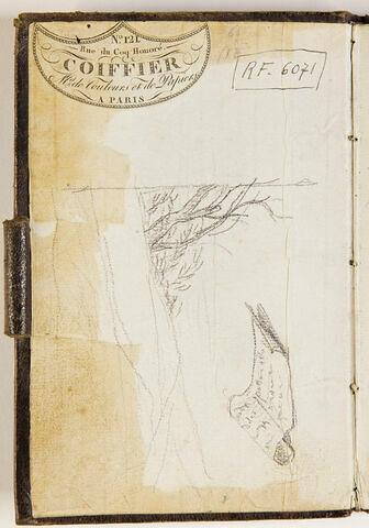 Arbustes ; rouleau de papier avec une annotation