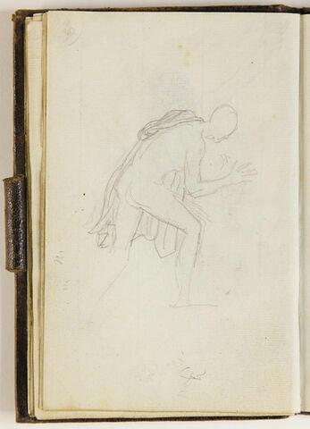 Homme nu, une draperie sur l'épaule