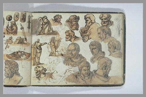 Etudes de figures d'après l'antique