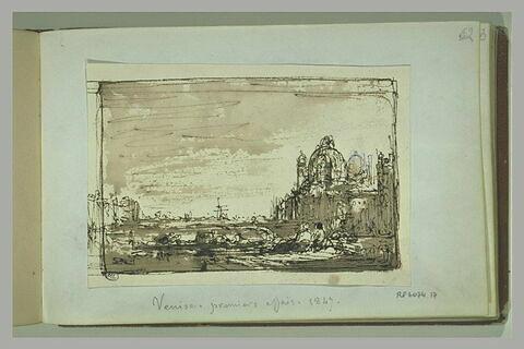 Vue de Venise, avec la Salute