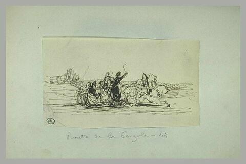 Un traineau tiré par des chevaux