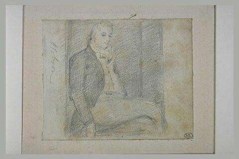 Portrait de William Hobson assis, de profil vers la droite