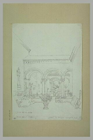 Cour intérieure à Bologne