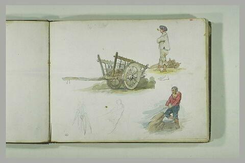 Chariot et pêcheurs