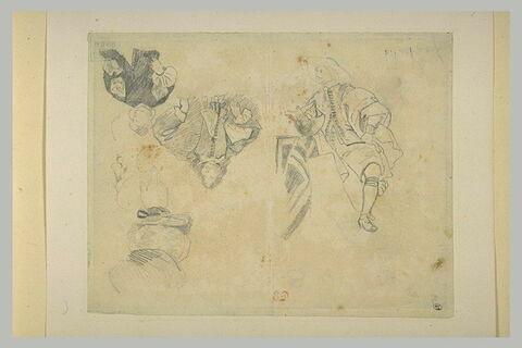 Etudes de personnages en costume du XVIIe siècle