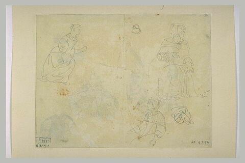 Femmes en costume du XVIIè siècle