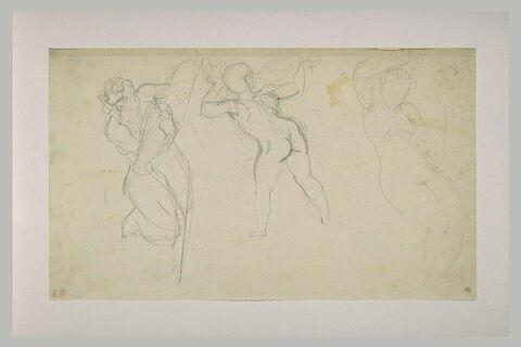Trois études de figures : un vieillard, un enfant et une femme nue