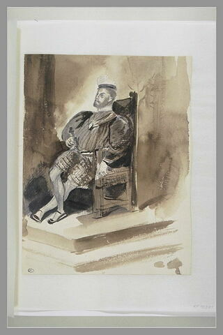 Roi sur un trône