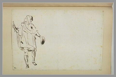 Un homme en costume début XVIIè siècle