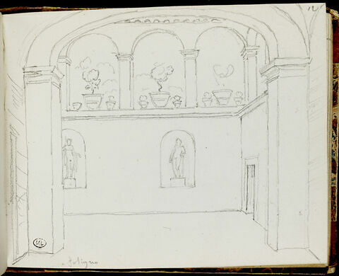 Cour intérieure à Foligno