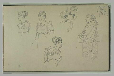 Costumes et coiffures pour le sacre de Napoléon Ier