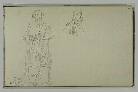Etudes de costumes pour le sacre de Napoléon Ier
