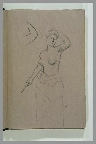 Femme debout, à demi nue