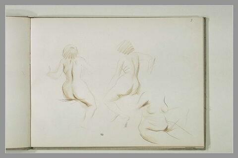 Trois études de femme nue