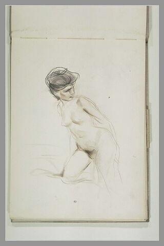 Etude d'une femme nue