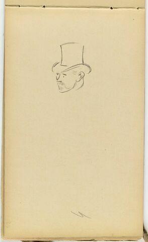 Tête d'homme en chapeau haut-de-forme