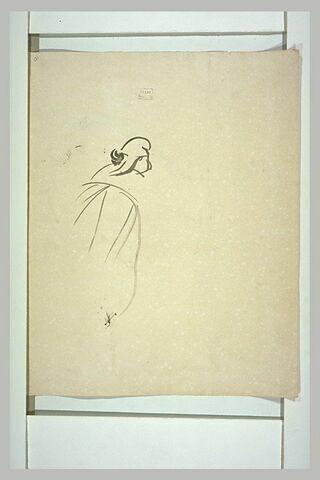 Croquis d'une femme coiffée d'un bonnet phrygien
