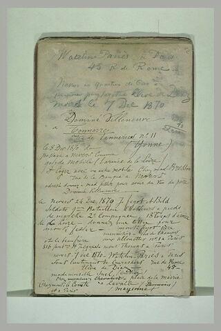 Notes manuscrites avec adresses