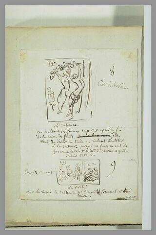 Caricature : tableau de l'Automne ; tableau de la Vérité
