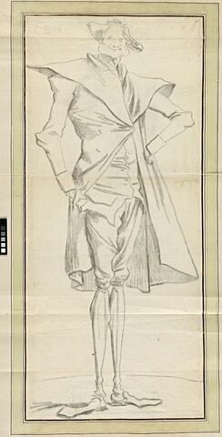 Portrait-charge d'une figure d'une maigreur extrêmet : le peintre Berthélemy
